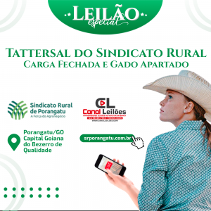 1° Leilão Virtual do Sindicato Rural de Porangatu